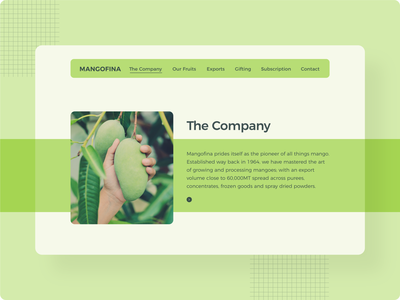 Mangofina Introduction Webpage mangoes mangofina webdesign design ux ui