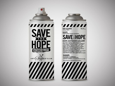 Hope Outdoor Gallery Art Supper Club Invites
