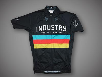 Industry Print Shop Cycling Jersey - Black