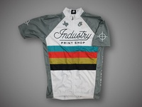 Industry Print Shop Cycling Jersey - White