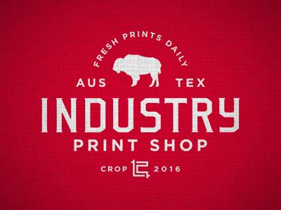 Industry Print Shop Shop Rag