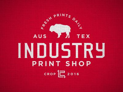 Industry Print Shop Shop Rag branding logo industry print shop industry texas austin bobby dixon