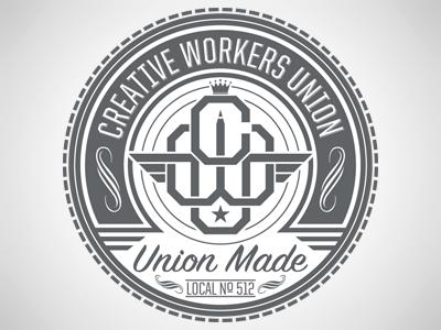 Creative Workers Union seal logo identity branding creative workers union cwu typography type lettering bobby dixon