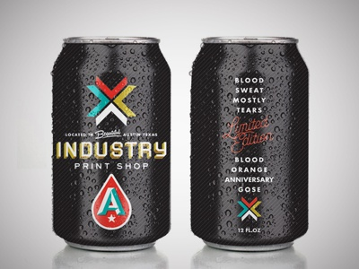 Industry Print Shop Collaboration with Austin Beerworks
