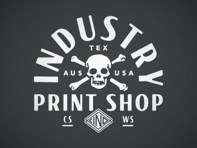 Industry Print Shop Skull and Crossbones