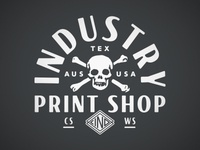 Industry Print Shop Skull and Crossbones