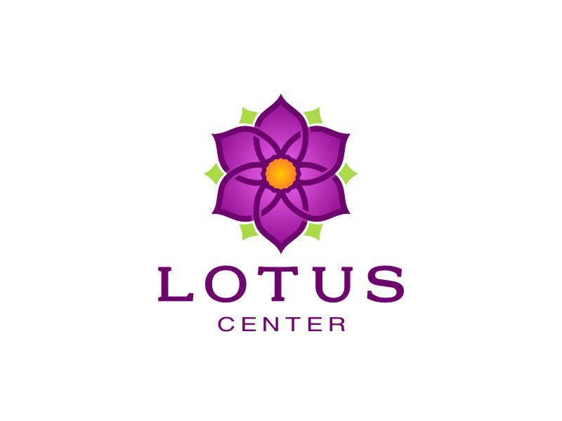 Lotus Center logo third version lotus center logo flower