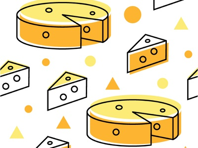 Cheese Seamless Pattern yellow orange homedecor vector design cussion pattern seamless cheese