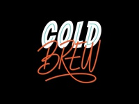 Cold Brew | Lettering