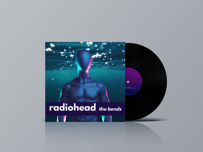 Radiohead's album cover for The Bends- redesigned
