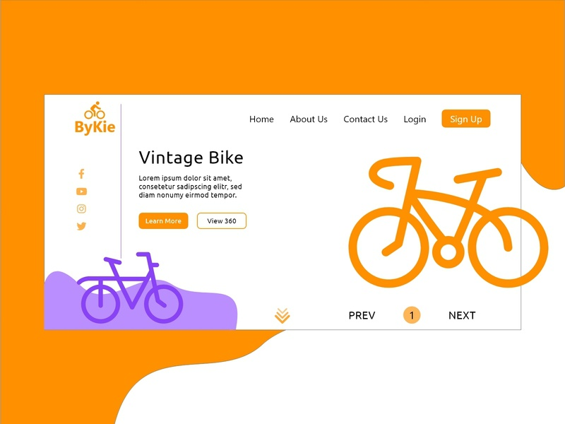 ByKie Home Page icon branding dribbble adobexd vector design illustration homepage websitedesign uidesign uiuxdesign adobexd