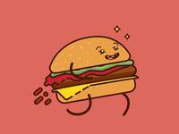Oh no, Cheeseburger, come back