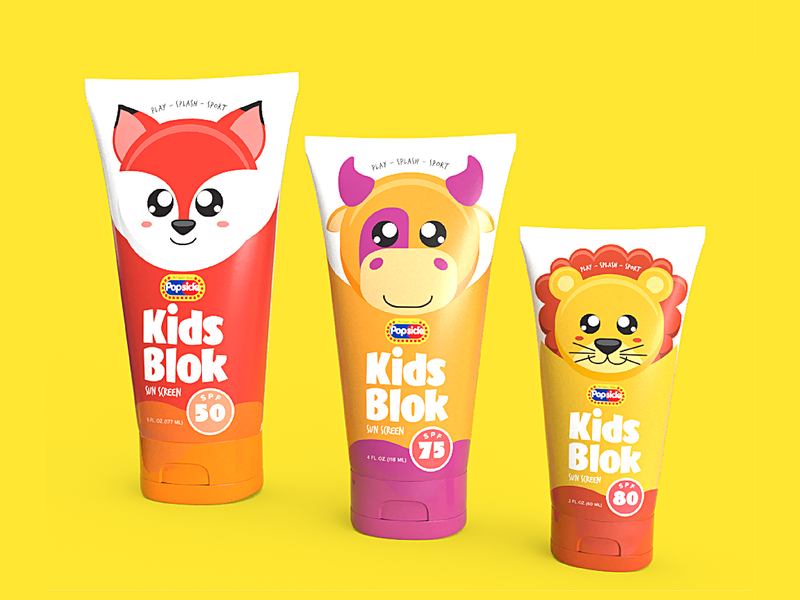 Popsicle Skin Care Packaging