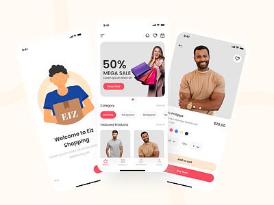 Eiz Shopping App shopping ecommerce ui app ux design