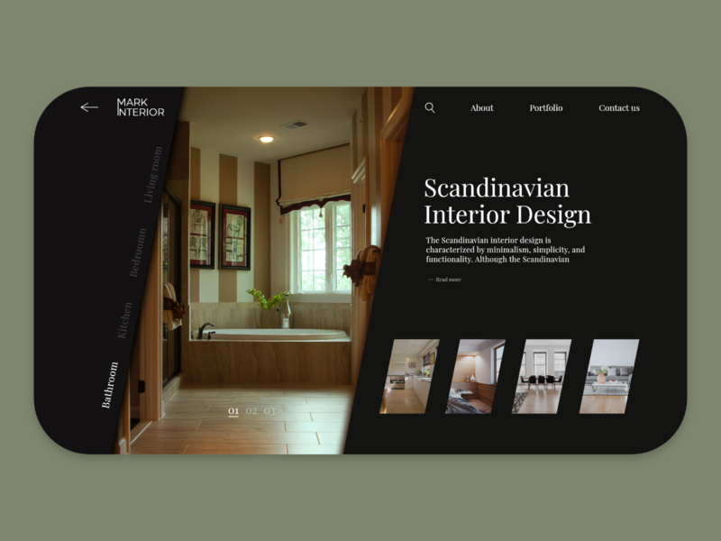 Website for Interior Design app web ui ux design