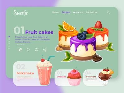 Sweetie Website Design landing page design homepagedesign landingpage adobexd app web ui ux design