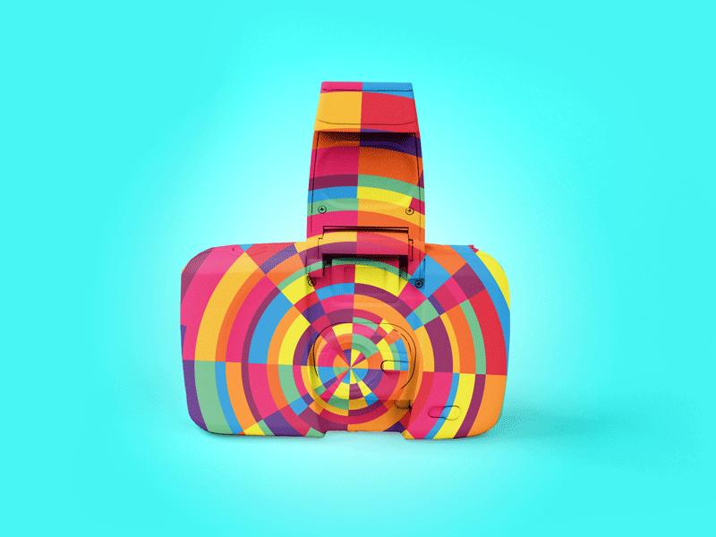 "Exploration | Color Explosion + Photography ""Hipster Camo No.2"" branding design loud vivid funeralone camera photography color exploration focus lab"