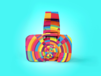 "Exploration | Color Explosion + Photography ""Hipster Camo No.2"""