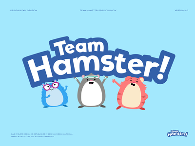 Branding | Team Hamster! Logo for PBS Kids typography lettering logotype branding design illustration agency branding studio branding agency logodesign hamster pbs pbs kids vector freelance branding illustrator illustration design