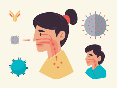 Illustrations | COVID-19 Illustrations vaccine b cells b cells cells antibodies science covid-19 covid freelance illustration design