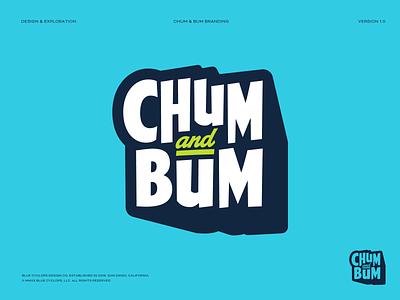 Branding | Chum & Bum 01 graphic designer logotype designer logo designer colorful illustration studio branding studio branding agency logotype typography logo design logo color illustrator illustration freelance branding design
