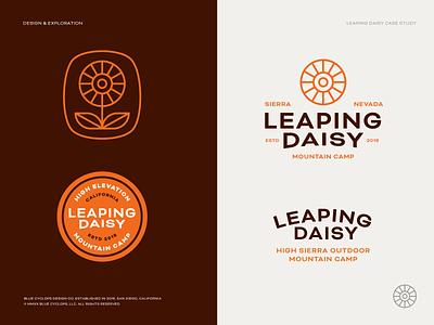 Branding | Leaping Daisy Final 01 flower logo daisy camping camp flower illustration agency illustration studio branding studio branding agency logo design vector design logo freelance branding
