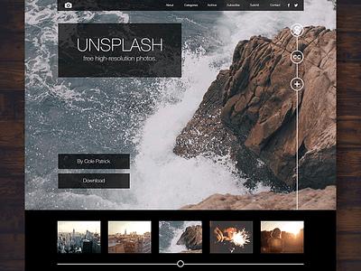 Web   Unsplash design branding web ui ux unsplash stock photos photography fun