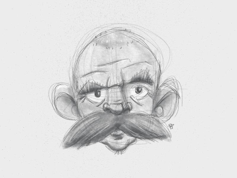 Resultado de imagem para old man mustache drawing