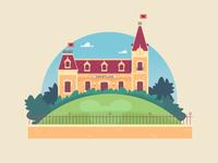 "Illustration | ""Welcome to Disneyland"" WIP"