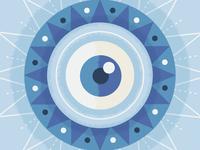 "Illustration | ""Sun Burst Eye"""