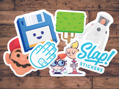 Slap stickers sticker mockup