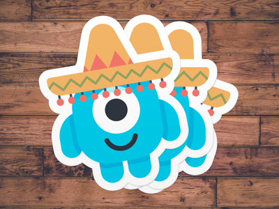 "Stickers | ""Bob's Mexican Vacation"" stickermule stickers character fun bob personal branding doodle illustration design"
