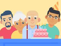 "Illustration | ""Facebook Birthday Party"""
