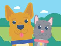 "Illustration | ""FB Pet Friends"""