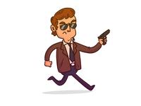 "Illustration   ""Secret Agent Man"""