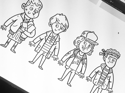 "Illustration | ""In-Progress Stranger Things"" exploration style eleven stranger things netflix illustrator drawing work fun doodle illustration design"