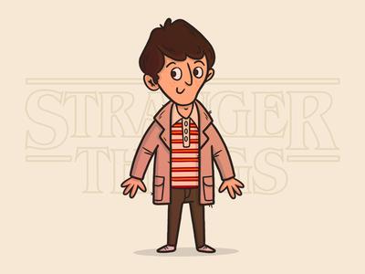 "Illustration | ""Stranger Things - Mike"" fun freelance character stranger things netflix gallery drawing doodles illustration design"