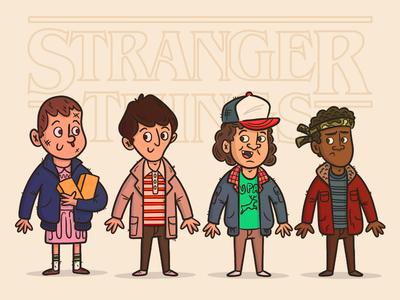 "Illustration | ""Stranger Things"" fun doodles artwork art character design series gallery netflix stranger things illustration design"