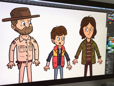"Illustration | ""Stranger Things Progress"" exploration style eleven stranger things netflix illustrator drawing work fun doodle illustration design"