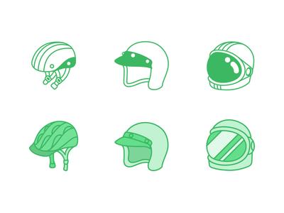 "Illustration | ""Segment Helmets"""