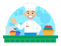 """Illustration   """"Able Chef"""""""