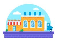 "Illustration   ""Able Granola Warehouse"""