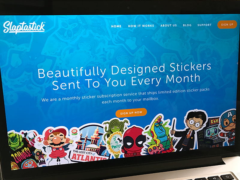 "Slaptastick | ""Updating Our Site"" stickers website ux ui work fun doodle illustration design"