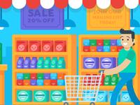 """Illustration   """"Able Ecommerce Marketplace"""""""