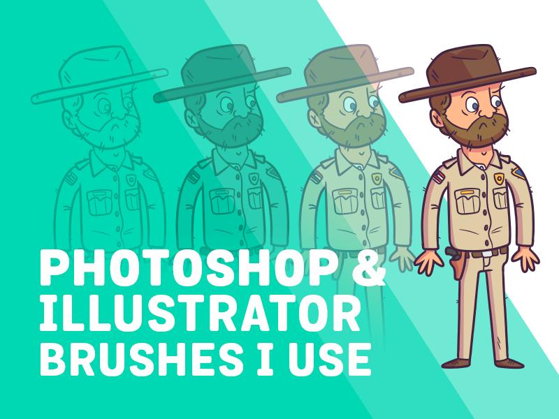 Youtube | Photoshop & Illustrator Brushes I Use! by Rocky