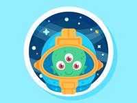 Illustration | Slaptastick Alien Sticker