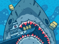 "Illustration | ""Jaws"" WIP"