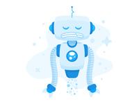 "Illustration | ""Sad Robot"""