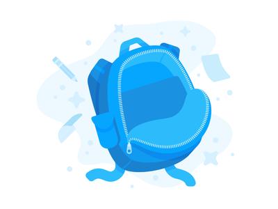 "Illustration | ""Portfolium Backpack"""