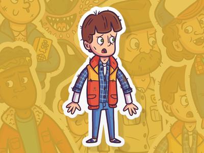 "Slaptastick | ""Will Sticker"" stickers pop culture eleven netflix strangerthings fanart illustration branding design"